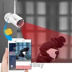 Zosi 8ch De Nvr 2mp Hd Outdoor Wireless Home Security Système De Caméra Ip Wifi