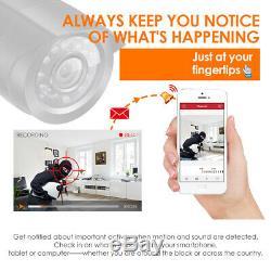 Zosi 8ch Dvr 1080n Hd 2tb Extérieur Home Système De Surveillance Caméra De Sécurité