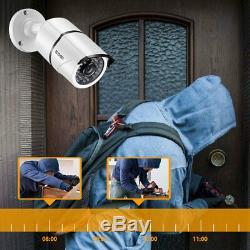 Zosi 8ch Dvr 2mp Extérieur Accueil Sécurité Système De Caméra Avec Disque Dur 2 To