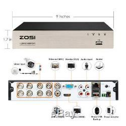 Zosi 8ch Dvr 2mp Extérieur Accueil Sécurité Système De Caméra Avec Disque Dur De 1 To