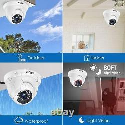 Zosi 8ch Hd Hdmi Dvr Cctv 1080p Caméra De Sécurité Système De Détection De Mouvement Extérieur