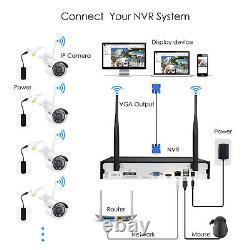 Zosi 8ch Système De Caméra De Sécurité Ip Sans Fil De Hd 2mp Wifi Nvr Kit Extérieur