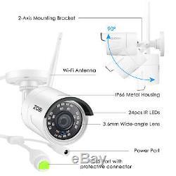 Zosi H. 265+ 1080p Sécurité Sans Fil Disque Dur 3to Système De Caméra Ip 8ch Wifi Nvr