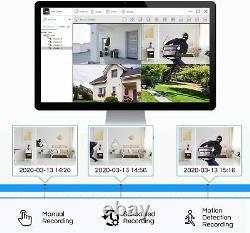 Zosi H. 265 2.0mp 1080p Hdmi Tvi Dvr 1500tvl Système Extérieur De Caméra De Sécurité Cctv