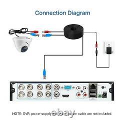 Zosi H. 265+. 5mp Lite Dvr 1080p Outdoor Home Dome Cctv Security Camera System