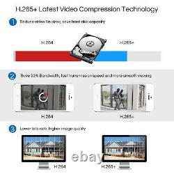 Zosi H. 265 8ch 5mp Lite Dvr 1080p Outdoor Indoor Accueil Système De Caméra De Sécurité 1tb