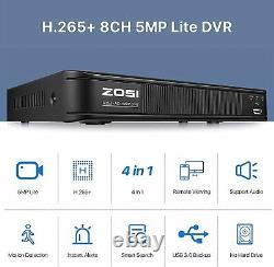 Zosi H. 265 Hdmi 1080p Cctv Extérieure Veilleur De Nuit Caméra Vision Système Home / Dvr
