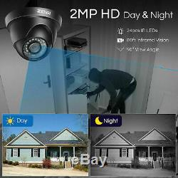 Zosi Hd 8ch H. 265 5mp Lite Dvr 1080p Ir Extérieur Cctv Sécurité Résidentielle Sécurité Et Système De Caméra