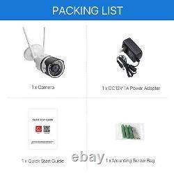 Zosi Wifi Outdoor Home Security Caméra Ip Sans Fil Avec Ir Night Vision 4 Pack